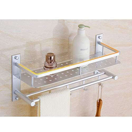 Cesta de Aluminio para baño, Ducha, Carrito, Estante de Almacenamiento montado en la Pared, Organizador, bandejas rectangulares, 16~24 Pulgadas, 40 cm,Durable