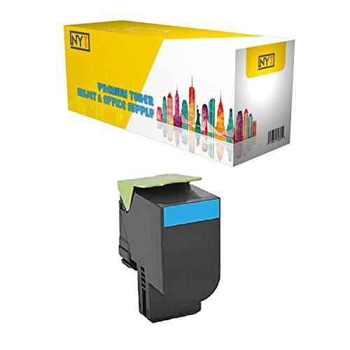 NYT Remanufactured Made in USA High Yield Toner Cartridge Replacement for 71B0H20 71B1HC0 for Lexmark CS417dn, CX417de, CS517de, CX517de (Cyan, 1-Pack)