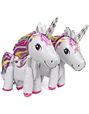 2pcs aluminum foil unicorn balloon birthday party children birthday balloon party decoration baby full moon commemoration for gift
