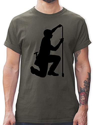 Handwerk - Zimmermann - L - Dunkelgrau - t Shirt Zimmermann - L190 - Tshirt Herren und Männer T-Shirts