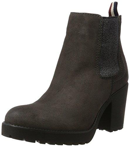 Hilfiger Denim Damen B1385OO 1B Chelsea Boots, Grau (Steel Grey), 42 EU