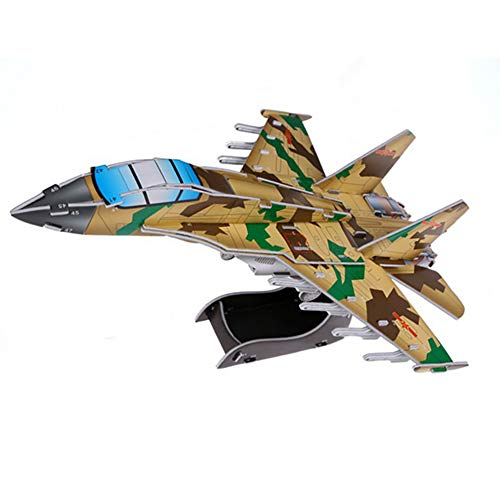 3D Puzzle Fighter Jets Airplane Puzzle No Glue No Scissors Easy to Assemble Fighter Airplane 3D Puzzles for Kids Adults 1Pc