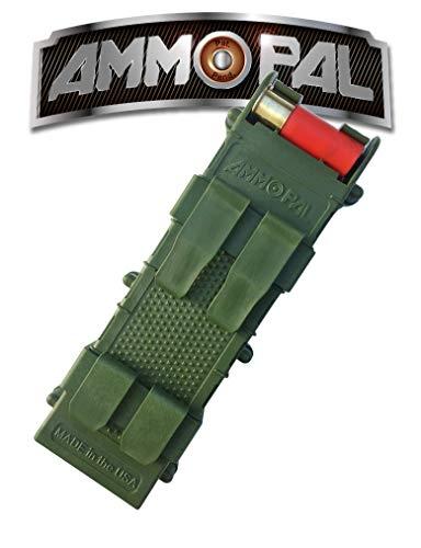 AmmoPAL 12 Gauge Shotgun Shell Holder Speed Reloader (Od Green) Calibre Cartuchos de Escopeta Dispensador-Verde, Adultos Unisex, Talla única