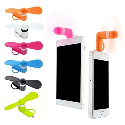 Mini Portátil Cool USB Ventilador de Teléfono Móvil Gadget Tester Para iPhone 5 5S 6 6S 7 Plus 8 X XR XS para Android Samsung Micro