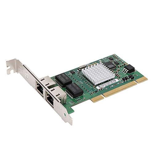 SU-LRI82546 Gigabit PCI Express-Netzwerkadapter 10/100 / 1000Mbps PCI Netzwerkkarte für Intel 82546 Chip 8492MT Gigabit LAN-Karte mit Zwei Anschlüssen für XP / win7 / win8 / win8.1 / win10