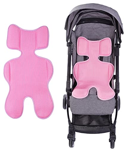 Universal Baby Stroller Liner 3D Mesh Cool Seat Pad Mat Breathable Pram Pushchair Car Seat Cushion Insert Thicken Sponged Baby Body Support Cushion Pad Mattress for Stroller, Baby Chair & Car Seat