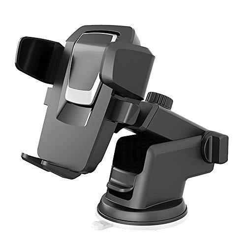 iAmotus Soporte Movíl Coche, Porta Teléfono Coche Ventosa para Parabrisas y Salpicadero, Ajustable 360°Sujeción Brazo Extensible Soporte Portatil para iPhone Samsung Huawei HTC y Otros GPS Movíles