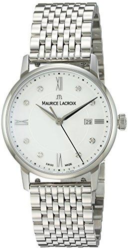 Maurice Lacroix Damen Analog Quarz Uhr mit Edelstahl Armband EL1094-SS002-150-1