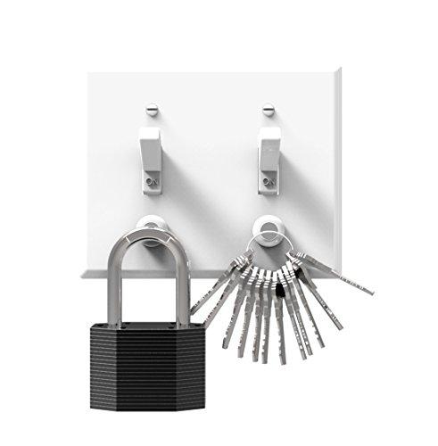 KeySmart KeyCatch - A Modern Magnetic Key Rack - Easy Installation Key Holder - Screws Into Lightswitch Panel - Strong Magnet (6-Pack)