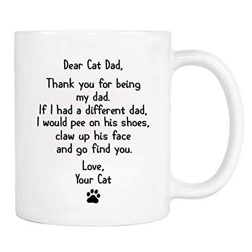 NA Querido papá Gato, Gracias por ser mi papá. Amor, Taza - Taza - Papá Gato - Papá Gato GIF