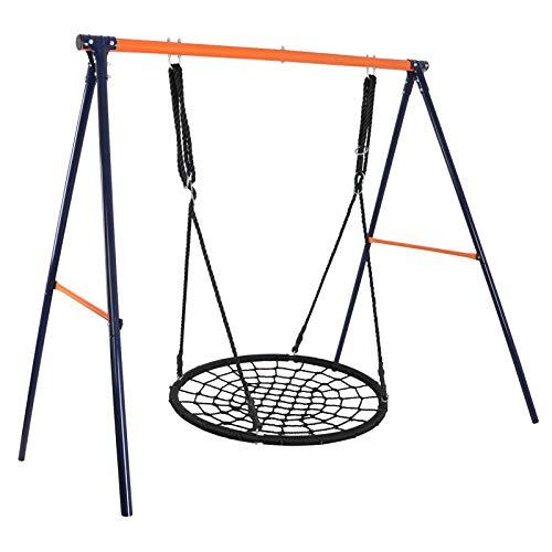 Super Deal 48' Combo Swing Set - 48' Web Tree Swing + Heavy Duty All-Steel All Weather A-Frame Swing Frame Set