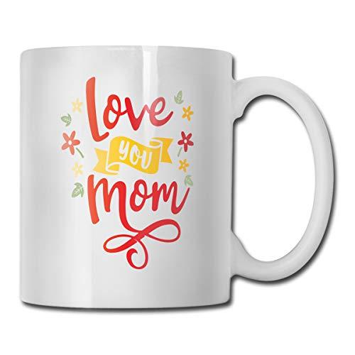 Taza de café de cerámica divertida con texto en inglés «Mothers Day Love You Mom Edeba».