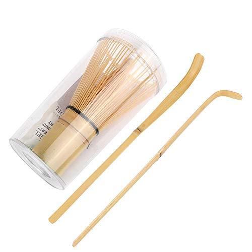 Vobor Matcha Whisk - Matcha Bamboe Klop en Lepel Bundel, Bamboe Matcha Maken Set, Matcha Poeder Whisk Tool, Hooked Bamboe Scoop Matcha Thee Klop