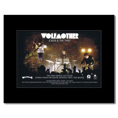 WOLFMOTHER - Joker & The Thief Matted Mini Poster - 21x13.5cm