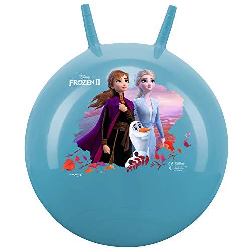 John- Hopper Ball Sprungball Die Eiskönigin Anna Elsa Disney-Pelota de Salto para niños (45-50 cm), diseño 2 de Frozen, Color Azul (59534A)