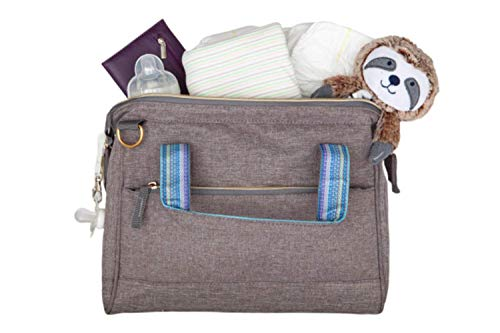 Stylish & Compact Baby Diaper Bag Tote, Multi-Functional, Waterproof & Durable, Travel Baby Bags for Mom - Gray