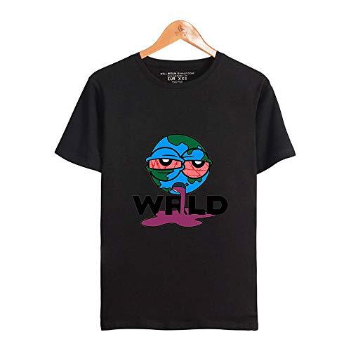 SHINEE Herren Juice Wrld T-Shirt Kurzarm Neuheit 3D Printed Casual Fashion Top,Schwarz,XXS