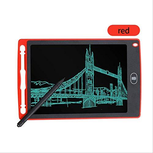 APCGK LCD-Tablet 8,5-Zoll-Digital Drawing Tablet Board Portable Mini elektronische Pinnwand, Kinder umweltfreundliche Graffiti Pad 8,5 Zoll rot