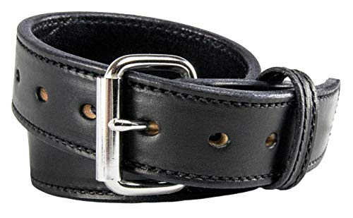 Relentless Tactical The Ultimate Concealed Carry CCW Leather Gun Belt - 14 Ounce 1 1/2 inch Premium Full Grain Leather Belt - Handmade in The USA! Black Size 40