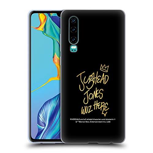 Oficial Riverdale Jughead Wuz Here Negro Oro Jughead Jones Carcasa de Gel de Silicona Compatible con Huawei P30