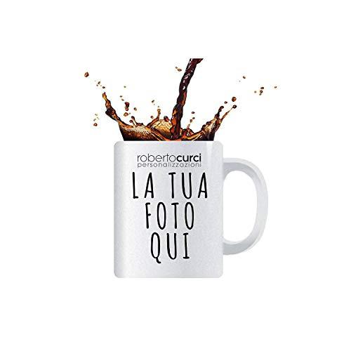 Tazzina da Caffè Personalizzata con foto - Ceramica - Bianco, 1 Tazzin