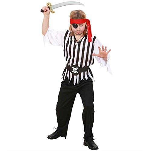 NET TOYS Déguisement Pirate Enfant déguisement d'enfant déguisement Pirate déguisement de Pirate Habit L 156 cm 11-13 Ans