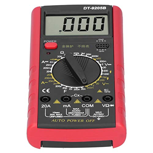 컴퓨터 유지보수를 위한 전압계 고정밀 압스 재료 25MM 문자 높이(붉은 검정색)
