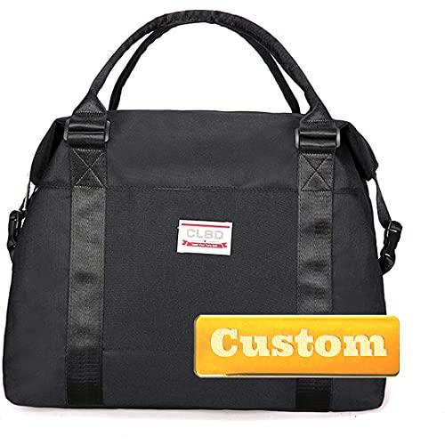 FireH Bolsa de lona para hombre con nombre personalizado para mujer, grande, plegable, 40 litros (color negro, tamaño: talla única)