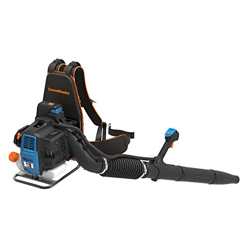 LawnMaster NPTBL31AB No-Pull Backpack Blower 2 Cycle 31cc, Orange, Black