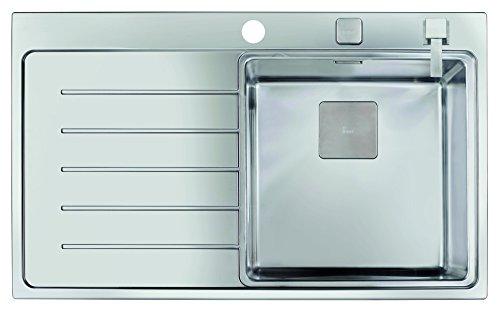 Teka 13139004 Zenit R15 1C 1E 86 Pro - Fregadero con Accesorios, 1 Cubeta, Acero Inoxidable, Versión Derecha, 86 x 52 x 50 cm