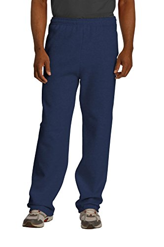 Jerzees mens Fleece Sweatpants, Open Bottom - Navy, X-Large US