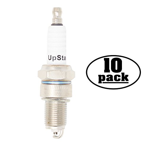UpStart Components 10-Pack Replacement Spark Plug for Yamaha Generator EF2600X EF2800i EF3000iS EF3000iSE EF3000iSEB - Compatible with Champion RN12YC & NGK BPR5ES Spark Plugs