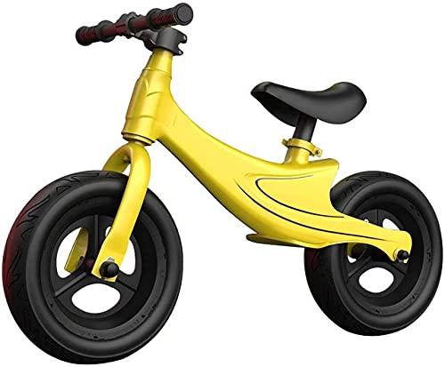 DRAGDS Bilancia Bilancia, Bilanciata Senza Pedale Bike, Telaio in Lega Di Magnesio con Sella Regolabile Bilancia Bilancia per Bambini, per Bambini e Bambini da 2 a 5 Anni, Regalo,Giallo,85X55X35Cm.