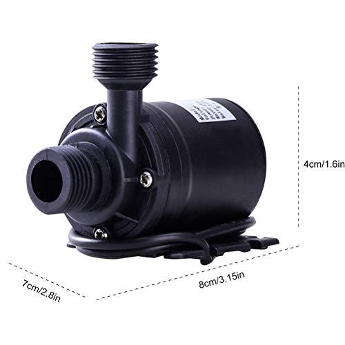 Schimer DC 12 V 800 L/H 5 m Brushless Mini pompe à eau de jardin pour fontaine, système de circulation de l'eau, submersible, amphibique, aquarium, étang de jardin, bac à poissons.