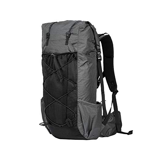 OneTigris LITE ROAMER Ultralight Backpack, 55L+5L, 2.5Ibs, Water Resistant, Black Orca Series