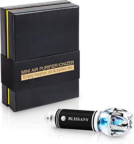 BLISSANY Purificatore d'Aria per Auto Deodorante d'Aria per Auto Ionizzatore,Rimuove Polline, Odore del Fumo, Cattivo Odore - Ideale per Automobile o RV e Buon Regalo per Auto