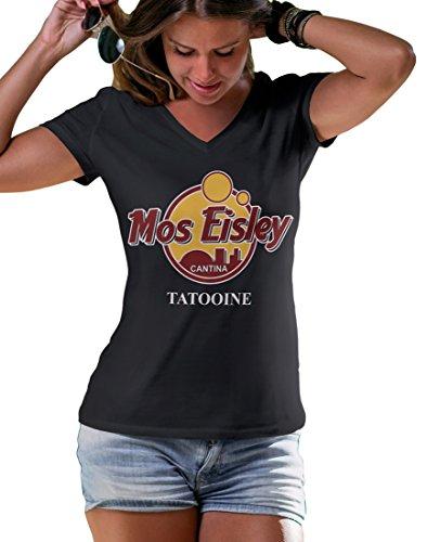 LeRage Shirts Damen Star Wars Mos Eisley Cantina Tatooine T-Shirt Gr. 46, Schwarz