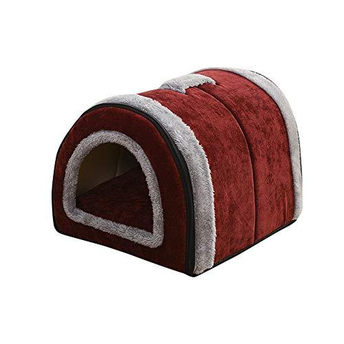 thematys Cueva para Gatos I Cama para Gatos I Casa para Gatos Plegable I Cueva Convertible I Portátil y Resistente a los arañazos (Style 1, S (35 x 28 x 26 cm))