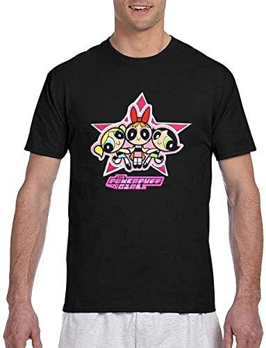 Men Powerpuff Girls-Logo T-Shirt Novelty Short Sleeve,XX-Large