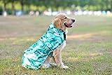 Comfortland Dog Raincoat Adjustable Pet Water Proof Clothes Lightweight Rain Jacket Poncho Winter
