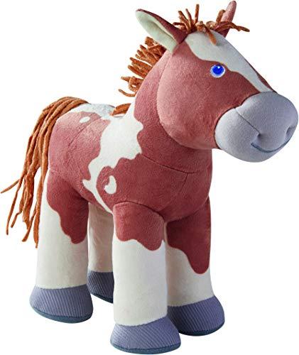 HABA 305465 - Fohlen Luna, Kuscheltier-Pferd und Puppenzubehör für HABA Stoffpuppen, 25 cm, Spielzeug ab 18 Monaten