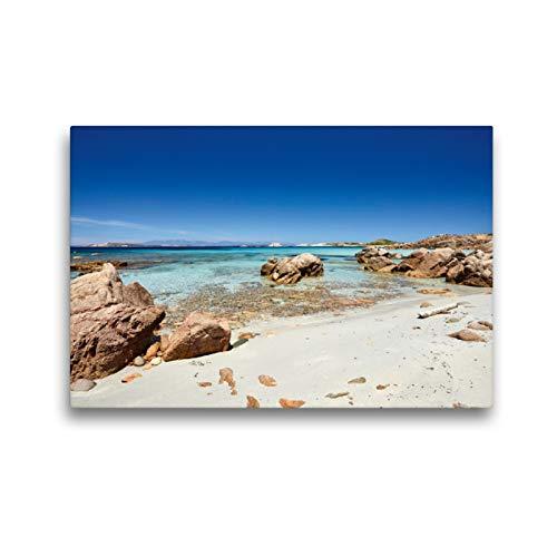 CALVENDO Premium Textil-Leinwand 45 x 30 cm Quer-Format La Maddalena - Sardinien, Leinwanddruck von Martin Rauchenwald