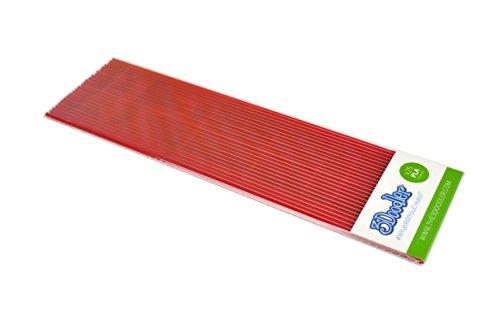 3Doodler Create PLA-Filament-Nachfüllpackung (25 Stränge, über 200 m aus extrudiertem Kunststoff) – Clearly Cherry