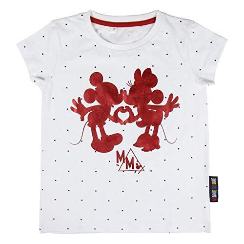Cerdá Meisjes T-shirt - Camiseta Minnie Mouse Niña - 100% algodon