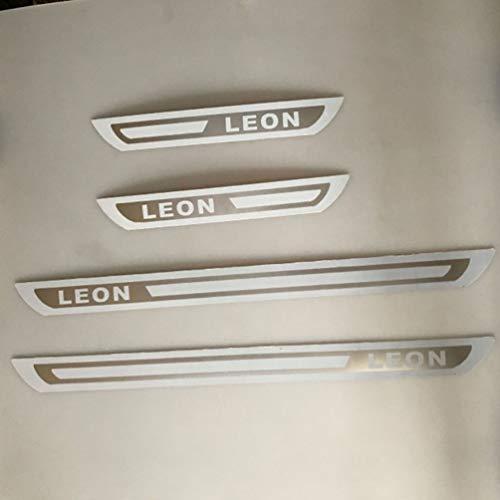 CAHM para Seat Leon, Placa de umbral de Puerta de Acero Inoxidable, Protector de Desgaste, decoración, Accesorios de conversión de Pedal de Bienvenida