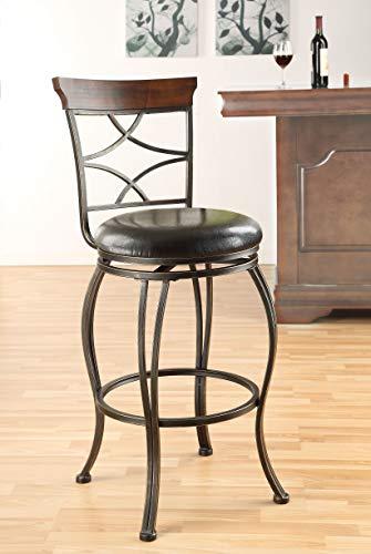 Acme Bolivia Swivel Bar Chair, Set of 2, Espresso