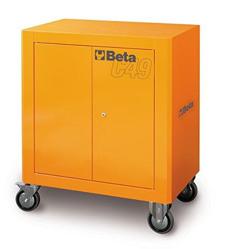 Beta Werkzeugschrank mit 2 Türen zum Abschließen, auf 4 Rädern, Farbe Orange