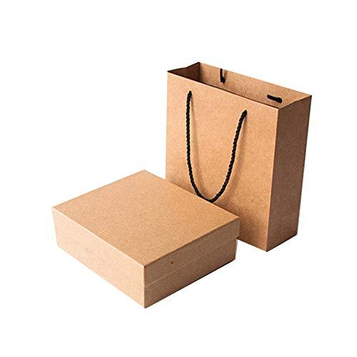 Queta caja de regalo Caja de papel kraft Set de caja de regalo bolsas de regalo de papel kraft para Fiestas, Bodas Cumpleaños y Dama de Honor Bebé Cajas para Chuches Postres y Tartas (XXL)