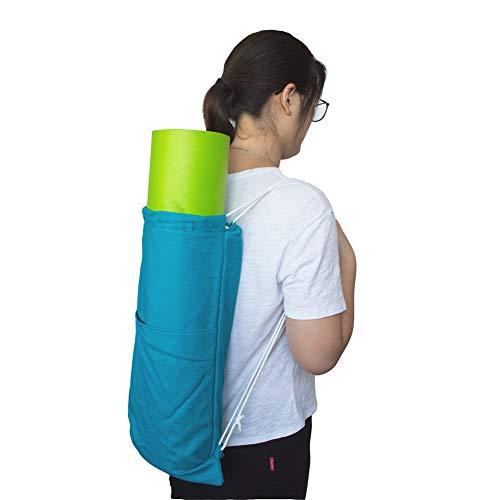 Sunfauo Funda Esterilla Yoga Bolsa Esterilla Yoga Bolsa de Yoga para Estera de Yoga Bolsa de Cubierta de Estera de Yoga Esterilla y Bolsa de Yoga Blue,-