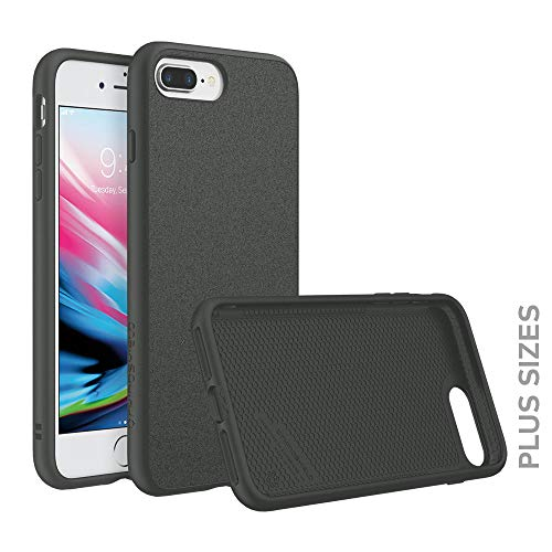 RhinoShield Case Compatible with [iPhone 8 Plus/iPhone 7 Plus] | SolidSuit - Shock Absorbent Slim Design Protective Cover [3.5 M / 11ft Drop Protection] - Microfiber